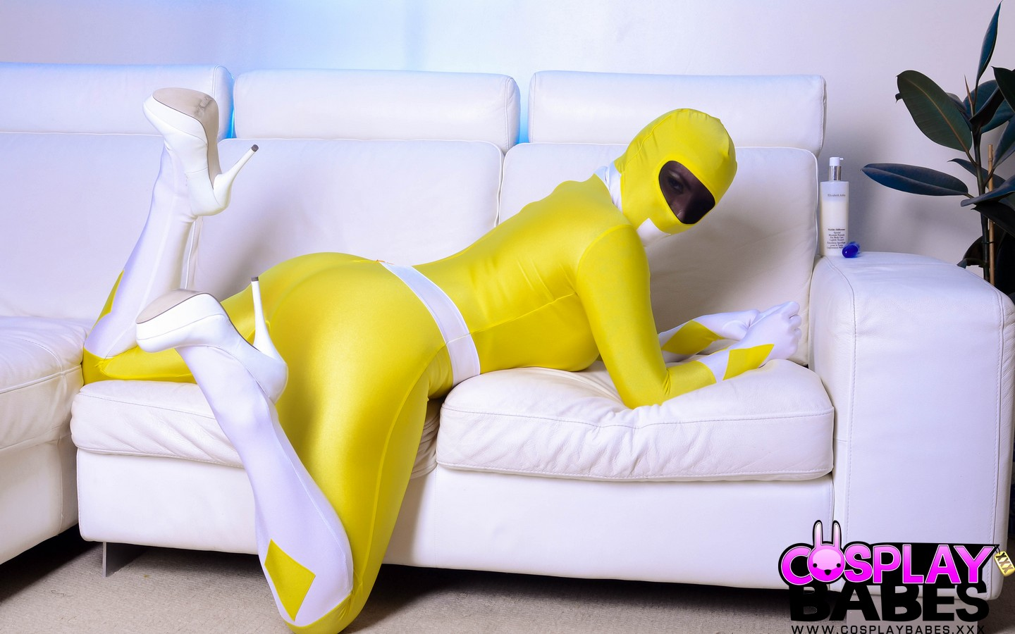 Cosplaybabes yellow power ranger with big tits 4